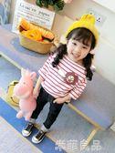 女童裝上衣兒童洋氣t恤小童童裝女寶寶長袖正韓潮 米菲良品