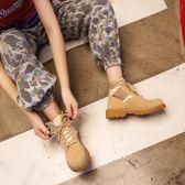 馬丁靴 ins馬丁靴女英倫風生平底chic韓版帆布百搭短靴子【韓國時尚週】