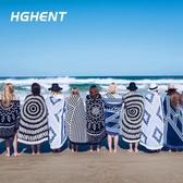 大浴巾歐洲大牌大甜甜圈沙灘墊巾旅行浴巾沙灘披巾披肩創意圍巾野餐墊-特賣
