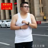 大碼背心男200斤加肥加大碼特大號寬鬆胖子打底汗衫莫代爾棉 中秋節搶購