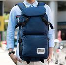 休閒大容量雙肩包男士旅行包旅游背包高中學...