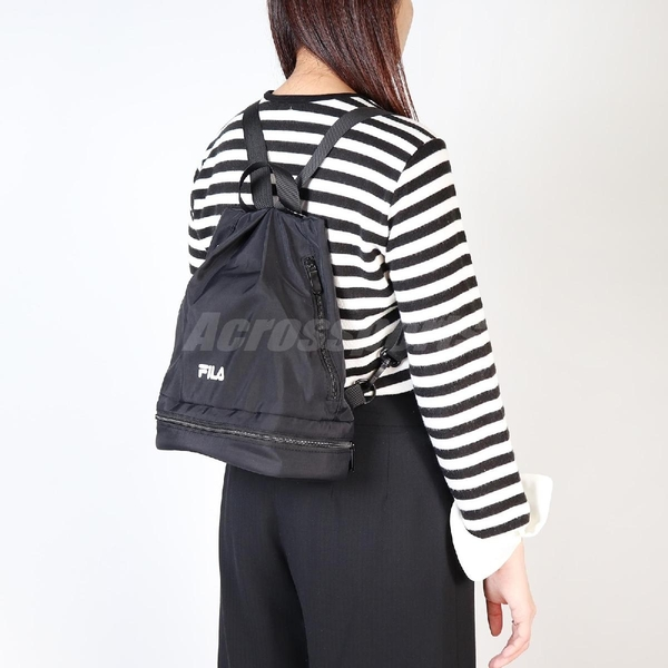 Fila 後背包 Gym Backpack 黑 白 男女款 迷你背包 防水夾層 健身包 運動休閒 【ACS】 BMV3001BK