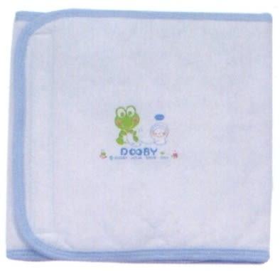 大眼蛙 鋪棉印花肚圍(大)  藍/粉 D-7606