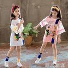 女童洋裝春秋裝可愛新款超洋氣時尚中大童裝女公主裙子 時尚潮流