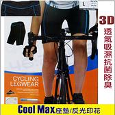 女款5分車褲短車褲頂級超彈性萊卡+CoolMAX抗菌除臭3D立體車墊(MW 黑色)-戶外趣