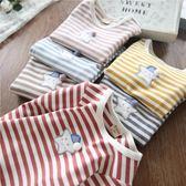 雙11秒殺 女童純棉長袖T恤韓版兒童寶寶星星條紋打底衫 2018秋季新款