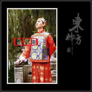 品衣江南/清朝阿哥貝勒服裝/中男式古裝/長大褂