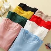 韓國韓系2215#實拍實價包芯紗純色彈力百搭打底針織衫包芯紗2F014愛尚布衣