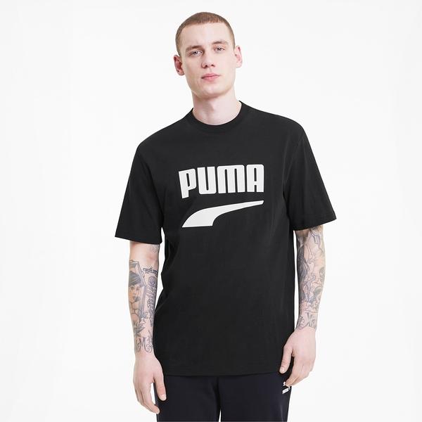 PUMA 短T DOWNTOWN GRAPHIC 黑 白 大LOGO 基本 休閒 短袖 男(布魯克林) 59762601
