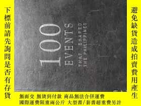 二手書博民逛書店英文原版罕見100events shat shaped the