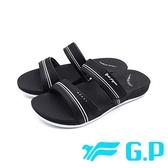 【南紡購物中心】G.P (女)輕柔軟舒適雙帶拖鞋 女鞋 -黑 (另有黑桃)