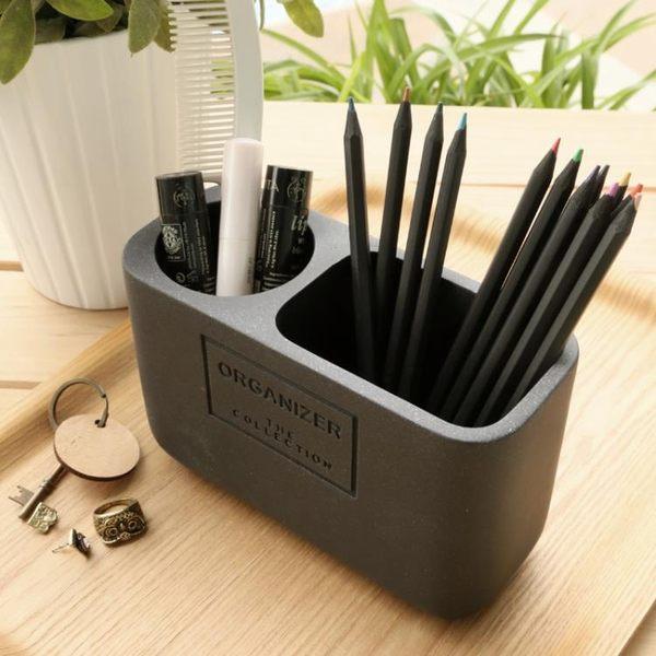 多功能筆筒 簡約筆筒創意時尚韓國小清新學生化妝刷歐式盒 WD897『衣好月圓』