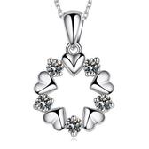 項鍊歐美花朵鍍銀項鍊女水晶吊墜短款鎖骨鍊女飾品《小師妹》ps162