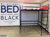 【空間特工】工業風雙人加大架高床 消光黑免螺絲角鋼 挑高床 高架床 含樓梯 可客製化 D2BF709