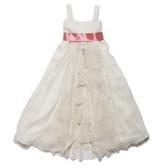 洋裝 / 禮服 / 花童 I Love Gorgeous 粉紅緞帶白雪紡無袖洋裝/禮服/花童 #BM09CRM #BM09PNK
