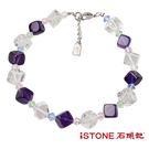 水晶手鍊-夏日冰鑽-優雅紫水晶 石頭記