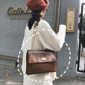 鍊條包質感包包女潮韓版百搭斜背包復古港風鍊條側背信封包 美物居家
