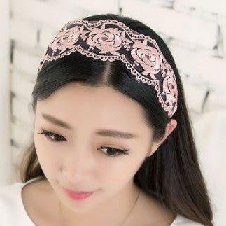 ►全區49折►蕾絲髮箍 韓國寬頭箍燙金頭箍 頭飾 髮飾【B5028】