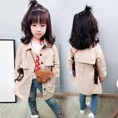 女寶寶外套秋裝日韓洋氣女童中長款風衣兒童上衣潮1-3歲5 優樂居