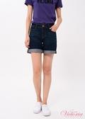 Victoria   中高腰刺繡鑲鑽短褲-女-V55181