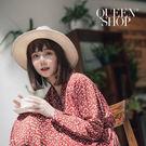 Queen Shop【01084454】V領小花雪紡洋裝 兩色售*現+預*