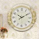 歐式孔雀掛鐘靜音客廳大氣掛表臥室擺鐘家用時尚時鐘石英鐘表