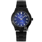 【台南 時代鐘錶 SIGMA】簡約時尚 藍寶石鏡面時尚腕錶 3801MS-B13 黑/藍 37mm 平價實惠的好選擇