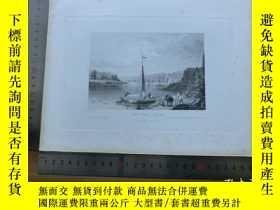 二手書博民逛書店【罕見】19世紀 銅 鋼版畫 單幅 view NEAR SELA