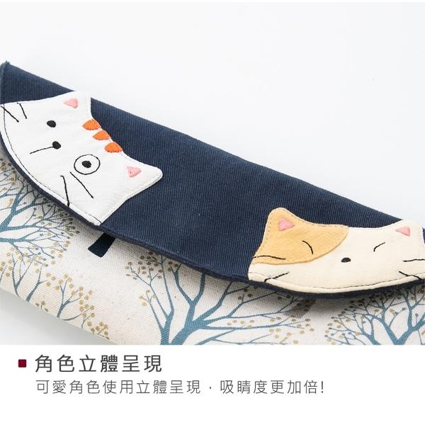 Kiro貓‧磁扣 翻蓋 拼布筆袋/收納包/眼鏡包【222953】