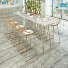 吧台桌實木吧台桌鐵藝吧桌高腳桌酒吧桌椅組合家用高腳吧台桌長條水吧台 【快速】