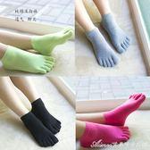 組合裝純棉五指襪子女秋冬中厚短筒襪糖果色全棉防菌防臭吸汗舒適 艾美時尚衣櫥