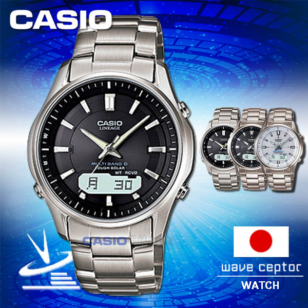 CASIO 卡西歐 手錶 專賣店   LCW-M100TD-1A3JF 男錶 電波錶 日系 鈦金屬錶帶 黑面 太陽能 電波