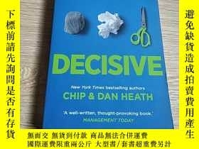 二手書博民逛書店Decisive罕見how to make better decisions如何做出更好的決定Y200392