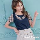 【Kinloch Anderson金安德森女裝】格紋假兩件刺繡上衣 2色