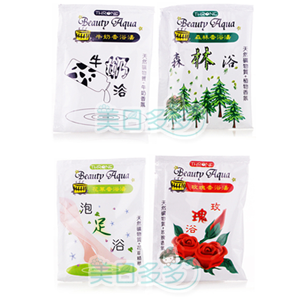 THRONE 斯儂恩 玫瑰/花草/森林/牛奶香浴湯 30g 泡澡用【美日多多】