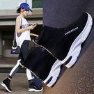內增高襪子鞋女秋季新款百搭網紅彈力女款襪鞋高筒厚底運動鞋 可然精品