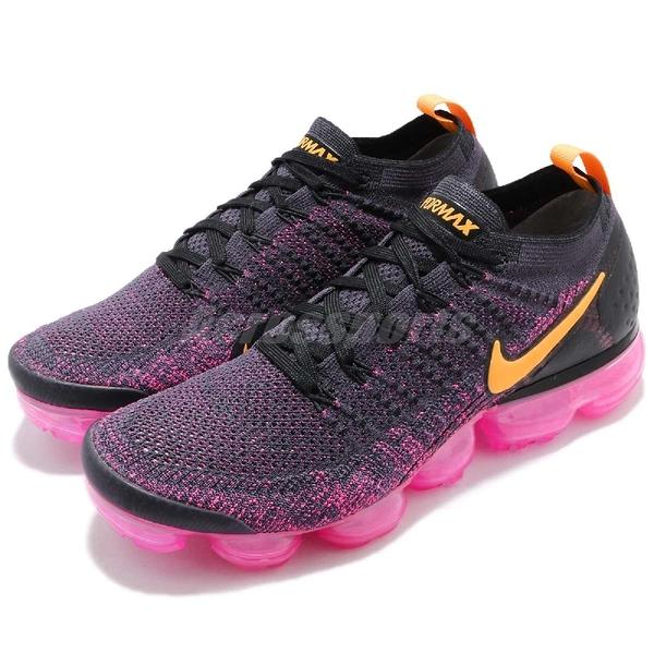 Nike Air VaporMax Flyknit 2 藍 粉紅 二代 飛線編織 大氣墊 運動鞋 男鞋【PUMP306】 942842-008