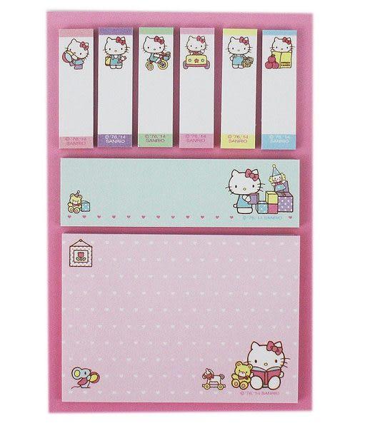 【卡漫城】Hello Kitty 便利貼㊣版 便條紙 自黏紙 隨意貼 Memo 日本製造