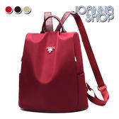 後背包 歸人沙城金屬字母尼龍後背包-Joanna Shop