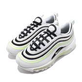 Nike 復古慢跑鞋 Wmns Air Max 97 白 黑 綠 大氣墊 運動鞋 女鞋【PUMP306】 921733-105