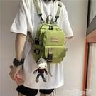 後背包多用小後背包女個性小巧出游逛街小背包韓國工裝斜背包新款 雲朵