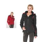 【SAMLIX 山力士】女 美國PRIMALOFT運動休閒超輕暖保溫棉外套(#32814紅色.黑色)
