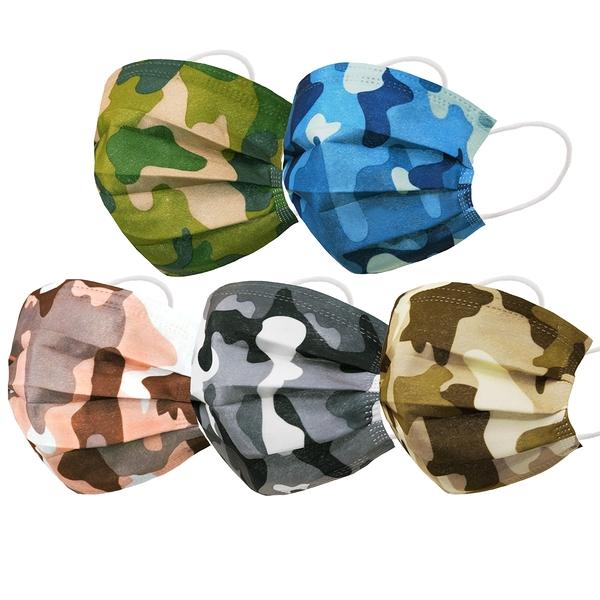 【3期零利率】預購 RM-A114一次性防護迷彩口罩 50入/單色包 單片獨立包裝 3層過濾 (非醫療)