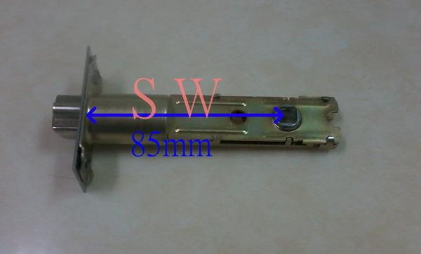 廣安 LH600 水平鎖 (附三支鎖匙) 85 mm 管型 板手鎖 水平把手 辦公室 臥室 房門專用 不銹鋼磨砂銀色