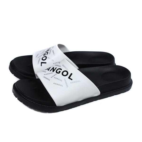 KANGOL 拖鞋 戶外 男鞋 白/黑 6125162100 no171