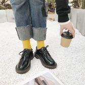 馬丁鞋女森繫2017韓版秋新品原宿小皮鞋女英倫學院風復古女牛津鞋