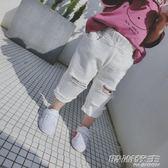 夏季新款純棉短褲男寶寶洋氣百搭1-6歲女童破洞牛仔褲寬鬆潮       時尚教主