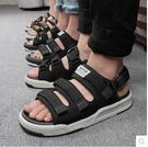 涼鞋男士夏季兩用涼拖鞋休閒運動潮沙灘鞋PLL488【男人與流行】