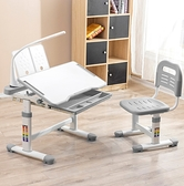 【結賬再折】兒童書桌椅套裝 學習桌椅 兒童桌椅 可升降桌椅(桌+椅+閱讀書架)(DK303GE)