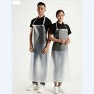 圍裙 廚房時尚簡約家用女長款加厚透明防水圍裙耐油無袖圍腰飯單【快速出貨八折鉅惠】